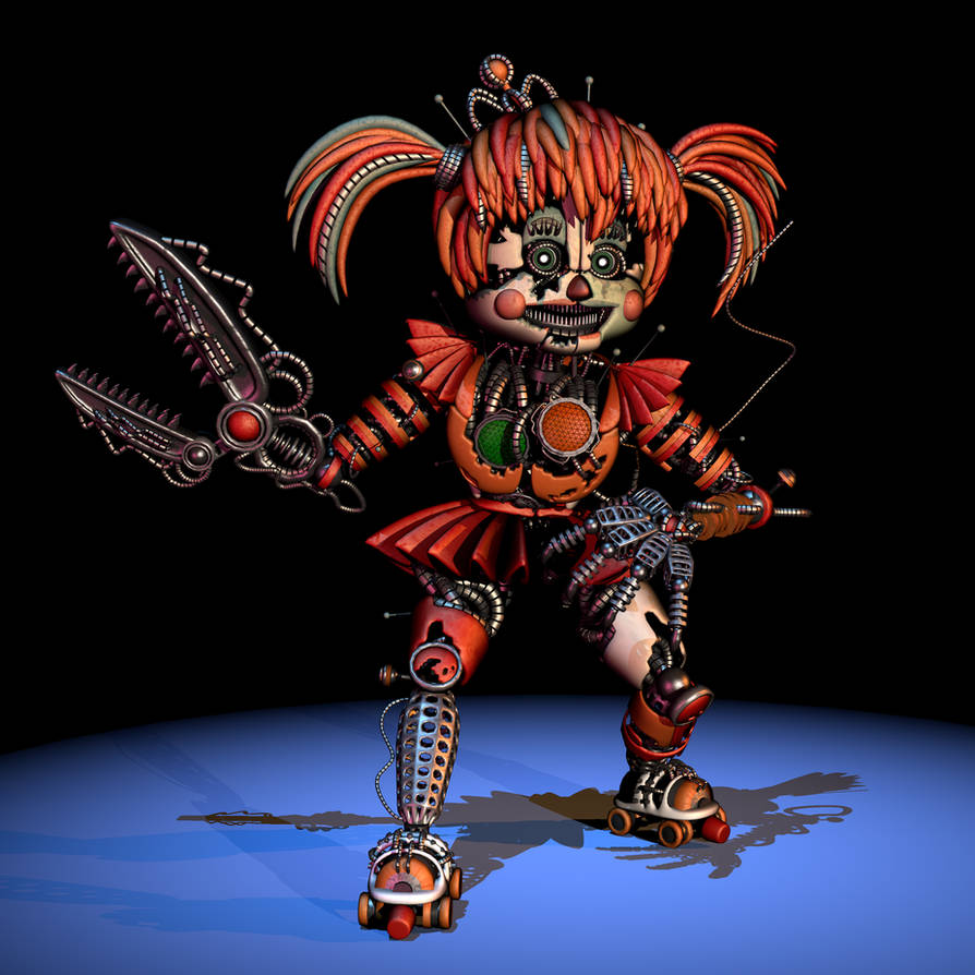 [FNAF/C4D]Scrap Baby Custom Extras Render By