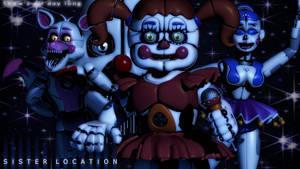 [FNAF/C4D] Sister Location Wallpaper