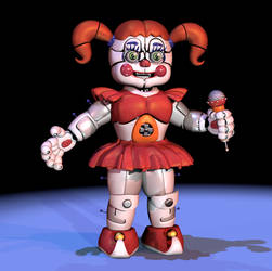 [FNAF/C4D] Circus Baby Extras - Remake by CaramelloProductions