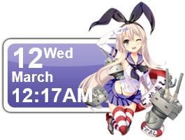 Shimakaze 2 Calendar by Kaza-SOU