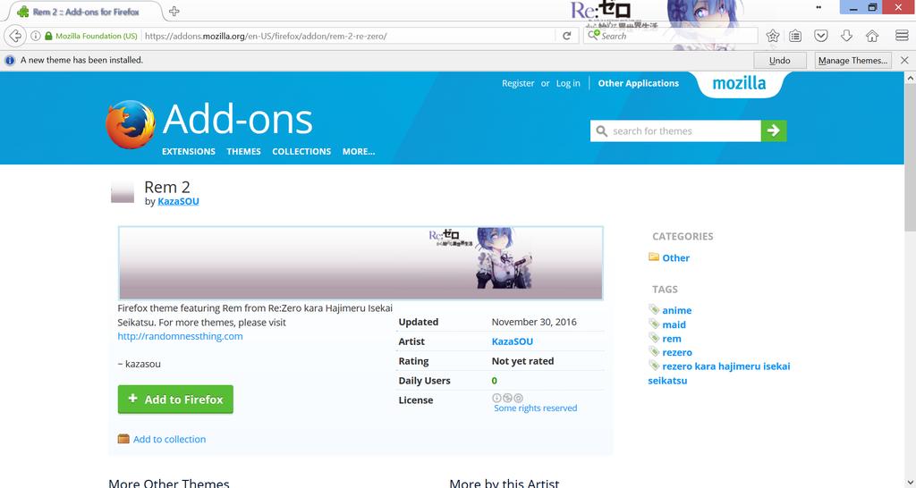 Rem Firefox 2 by Kaza-SOU