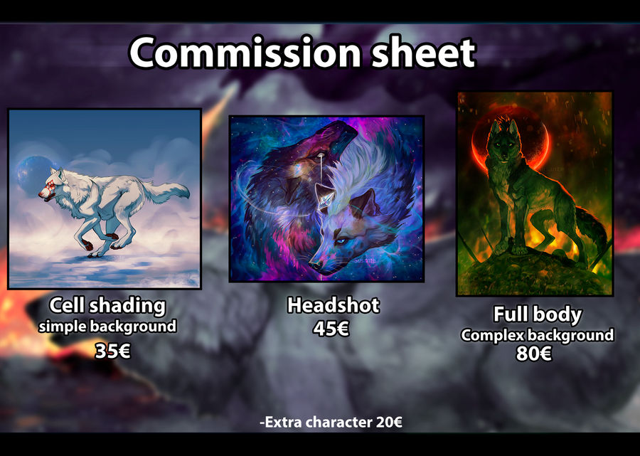Commission Price chart