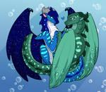 Orca and Aquarius [COMMISSION +Speedpaint]