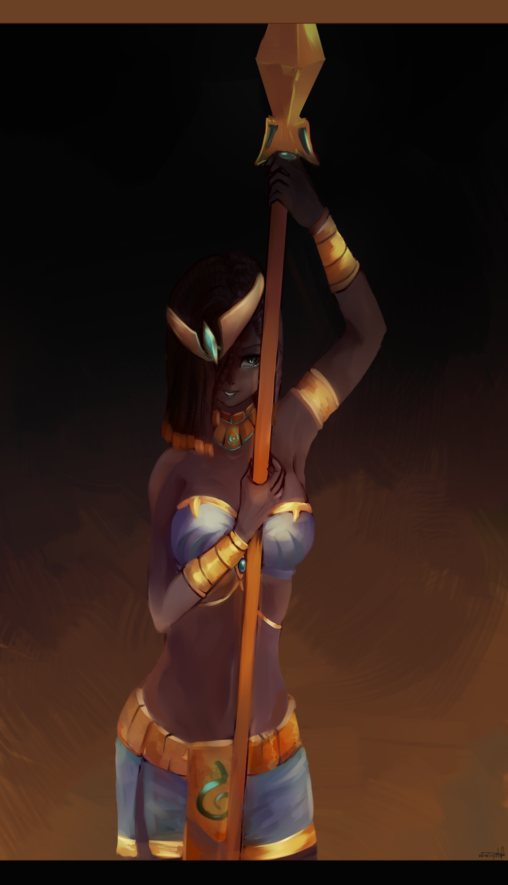 [LoL] Pharaoh Nidalee by antropix