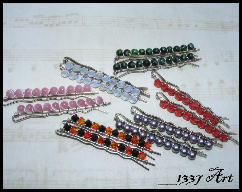 Wire Wrapped Bobby Pins by 1337-Art on DeviantArt