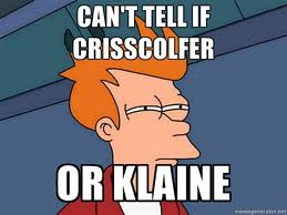 CrissColfer or Klaine? by Angel504