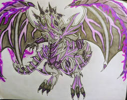 Violet-Eyes Grey Dragon