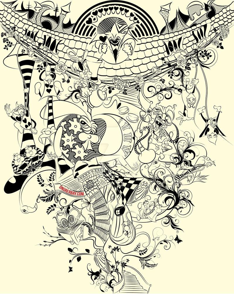 Alice in Wonderland by onure