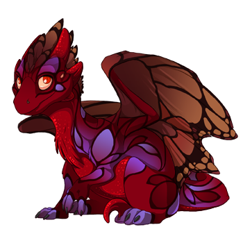 Blood Butterfly Hatchling by mysterie2001