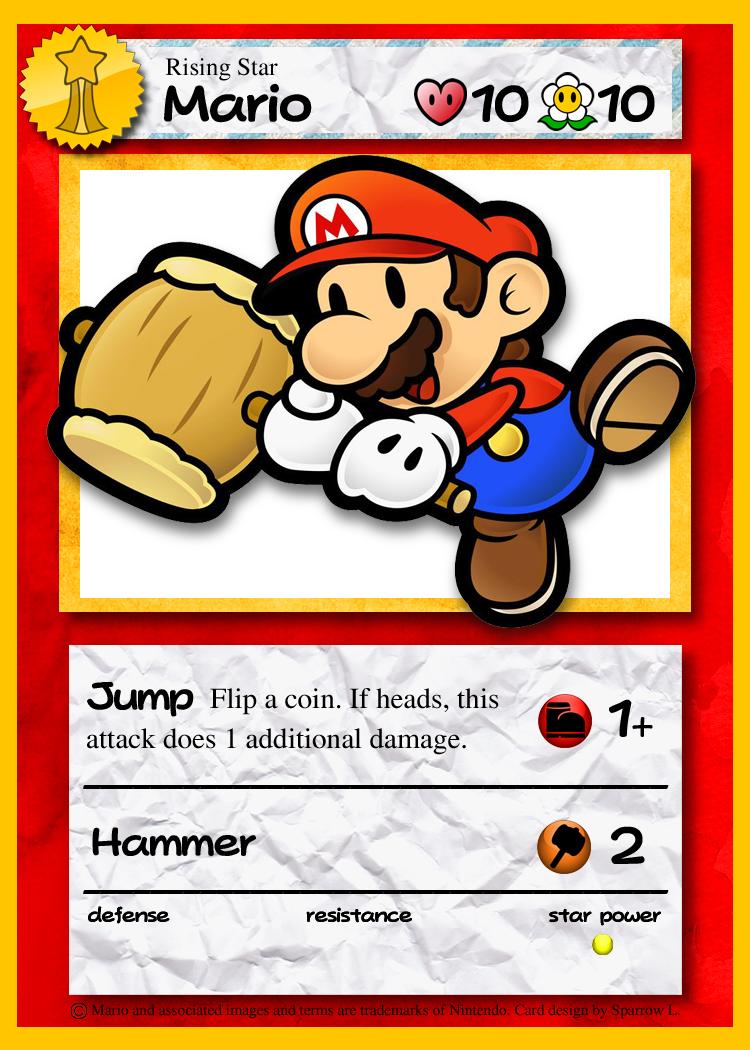 Paper Mario: TCG - Mario (Rising Star) by jsparrow