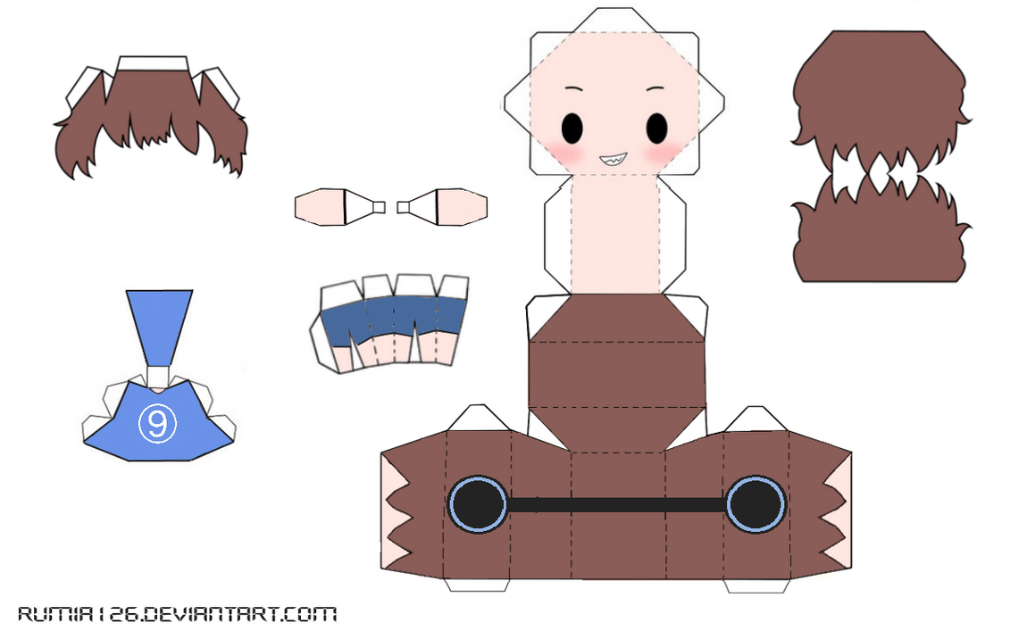 Papercraft Of Myself Template By Rumia126