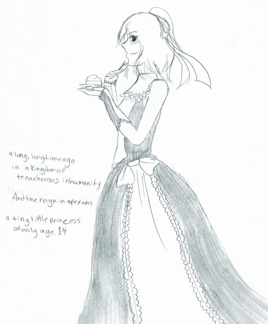 14 year old princess by SparkleSkullz
