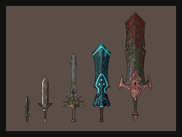 Swords Study by h1uru