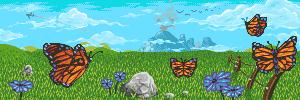 Monarch Landscape by h1uru