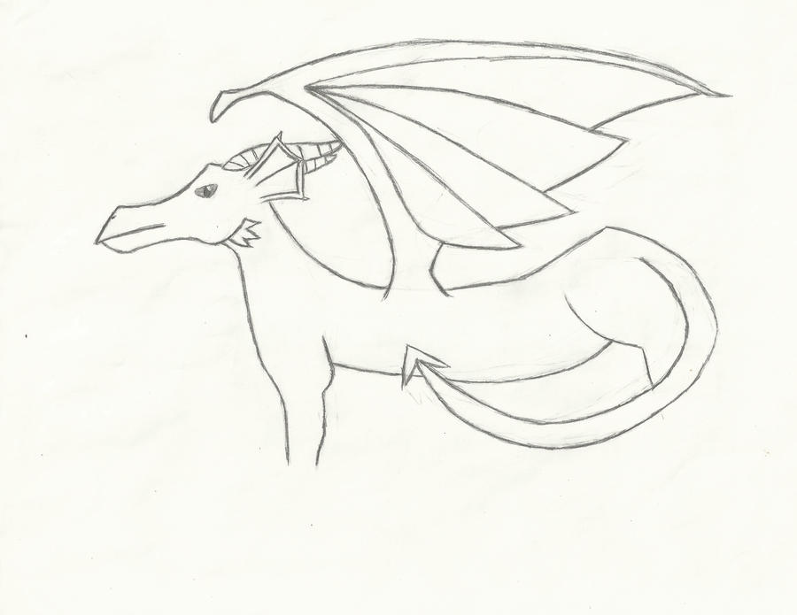 Dragon Drawings in Color Dragon Drawing no Color by