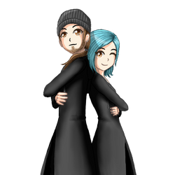 Commission: Smathi3 (him and me) by LyrinaFelice
