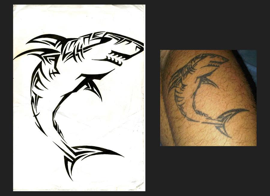 Shark Maori Tattoo By Mario Okbcatattoo