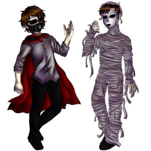 It's Almost Halloween - Masky and X-Virus