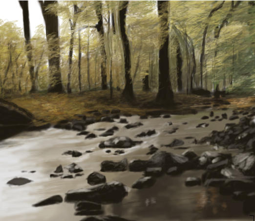 Forest Stream by Browser12