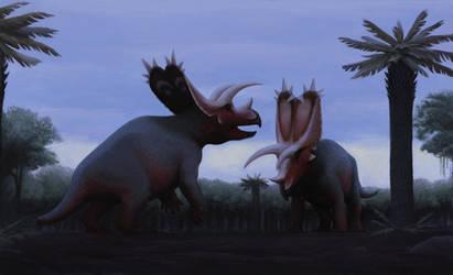 Pentaceratops Bulls by DuskyVel
