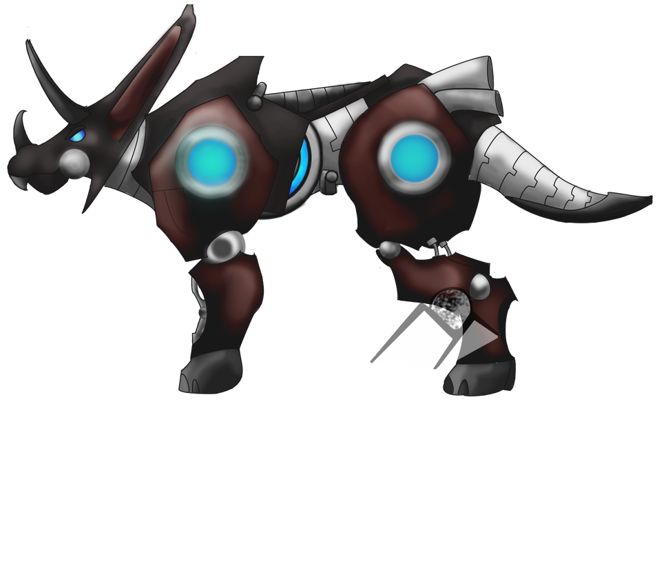 triceratops mecha beast by hills to sky on deviantart