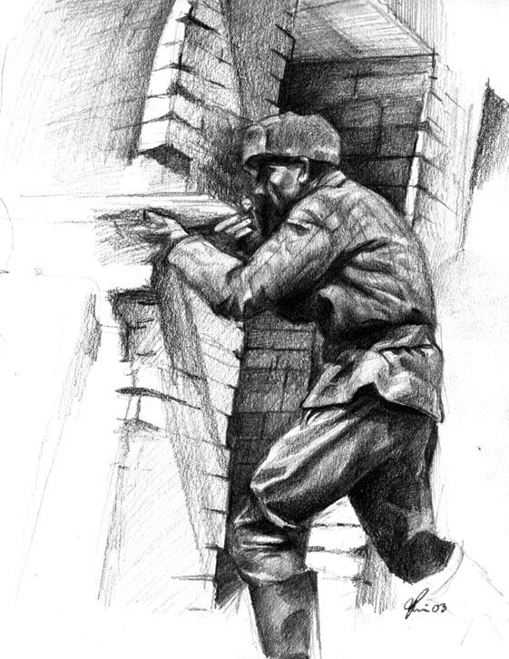 how to draw a nazi soldier