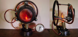 Steampunk Lamp by metalmorphoses