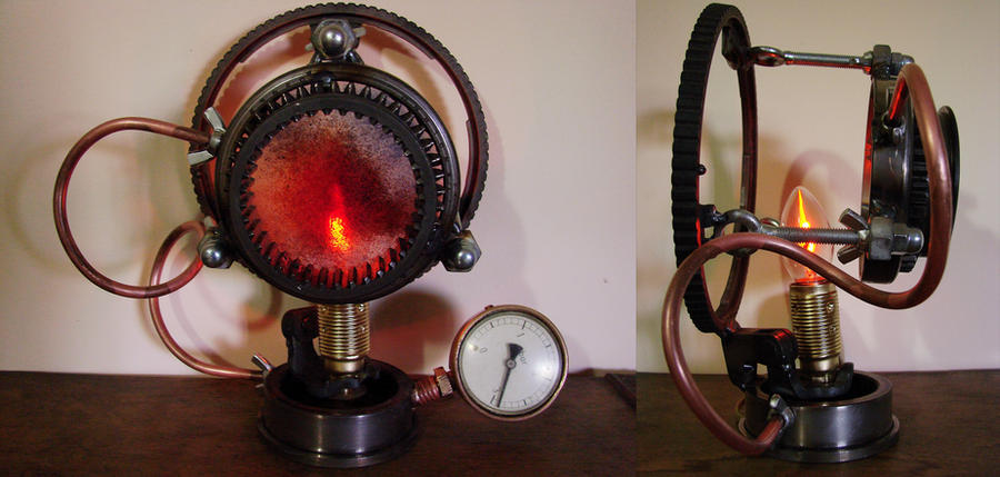 Steampunk Lamp by metalmorphoses