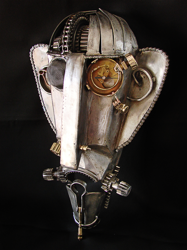 Steampunk, wall metal mask. by metalmorphoses