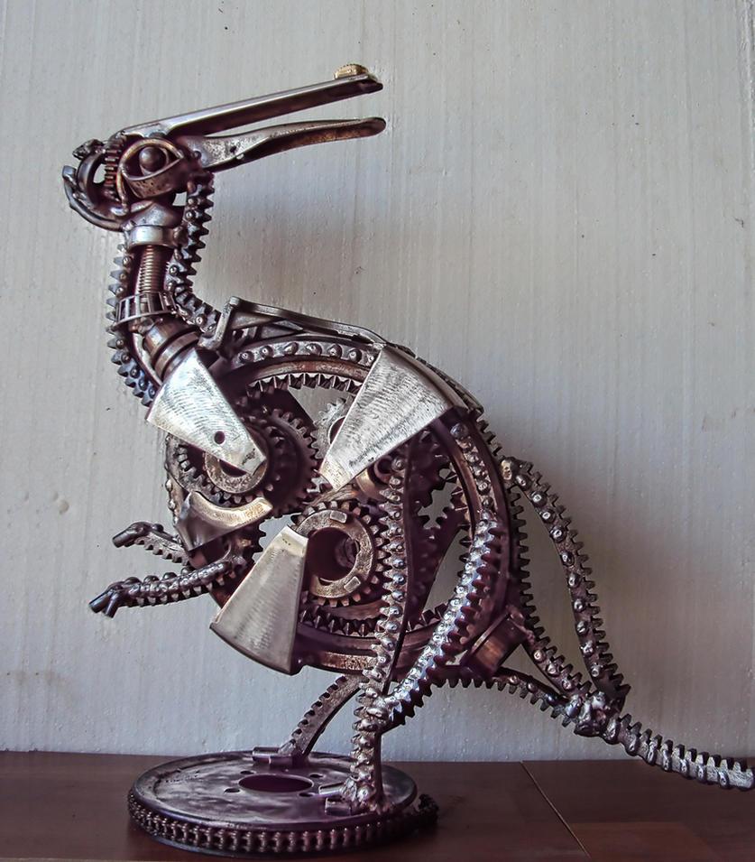 Steampunk Parasaurolophus by metalmorphoses