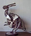 Steampunk Parasaurolophus