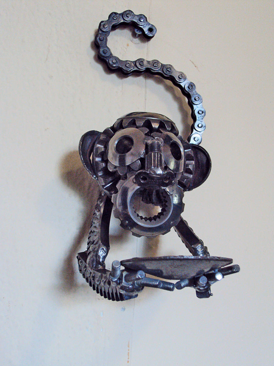 Steampunk Monkey Wall Candle Holder By Metalmorphoses On