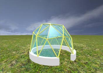 Umea biodome 3d render complete