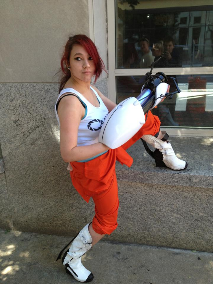 Chell Cosplay Portal 2 Philly Comic Con 2013 By