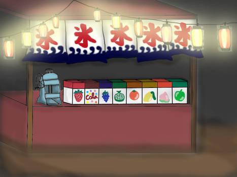 Kakigori stall