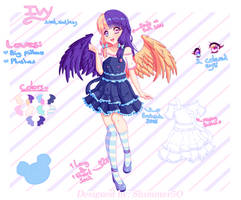 [+Speedpaint] [AT] Pillonchou - Ivy + ref. sheet by Shimmer5O