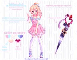 [+ Speedpaint] Character design - CookiePower987 by Shimmer5O