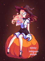[Collab] Pumpkin Witch Emmi by Shimmer5O