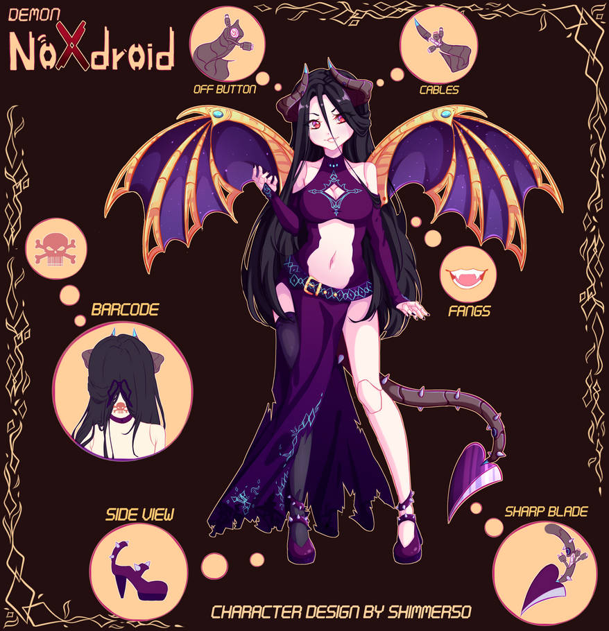 [Adopt] Demon Noxdroid [Auction Closed] by Shimmer5O