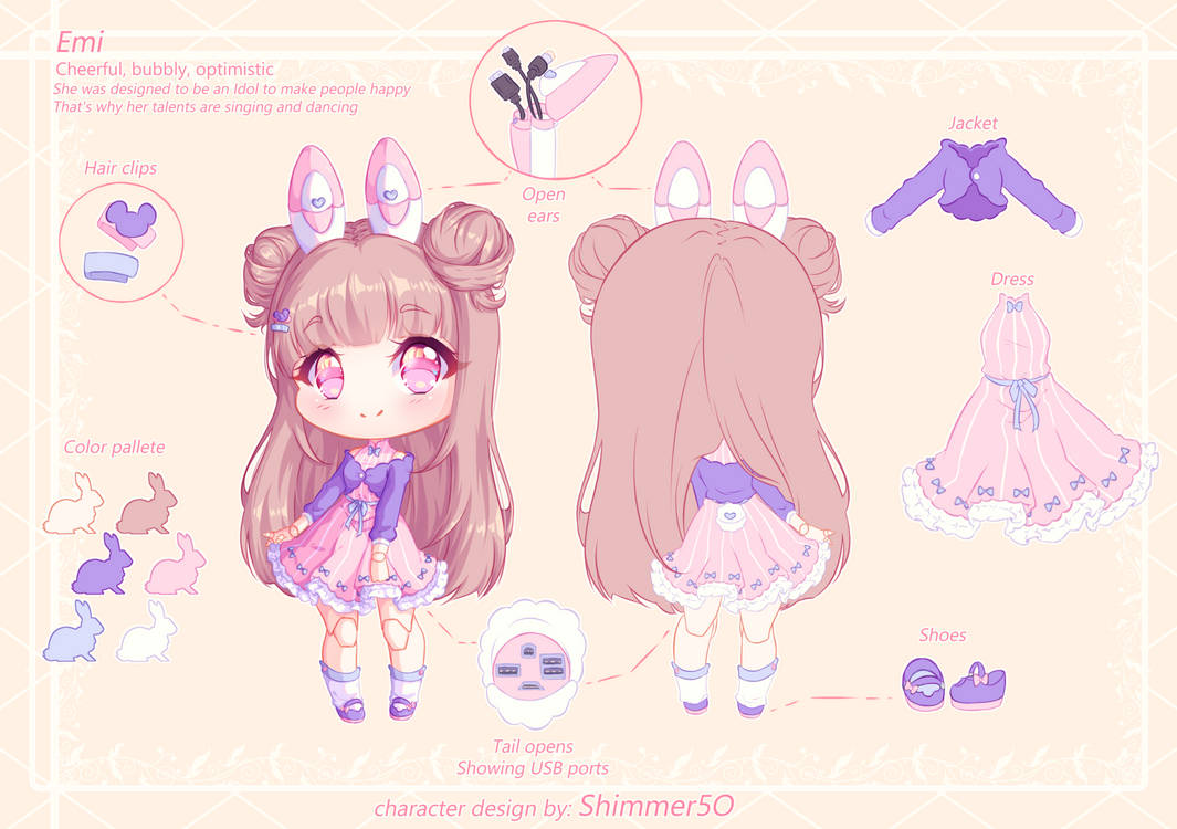 AT - Udroid Character design - Nyannpuff by Shimmer5O