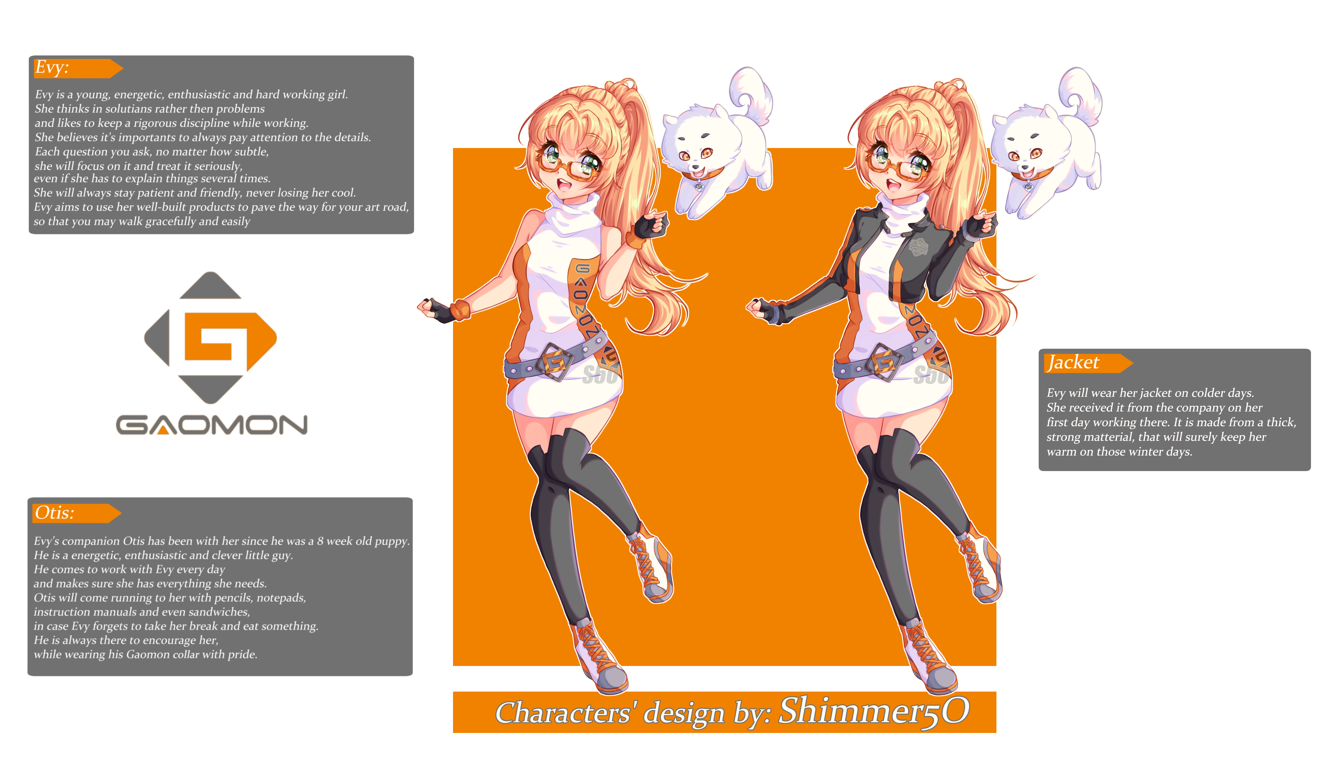 Character design - Gaomon contest entry by Shimmer5O