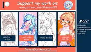 Patreon Reward Pack - November by Shimmer5O
