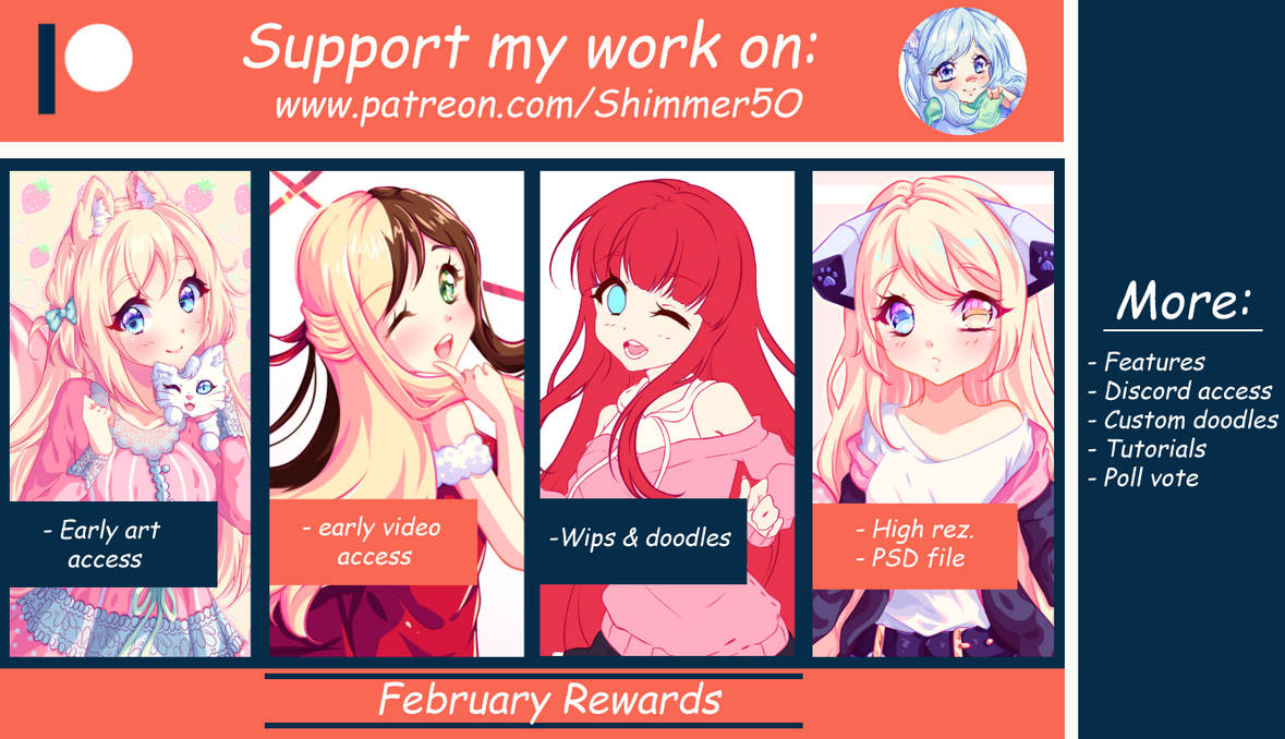 Patreon - February Reward Pack by Shimmer5O