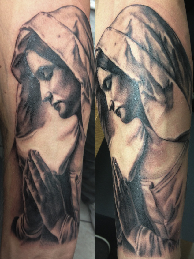virgin mary tattoo by disse86 on deviantart. Black Bedroom Furniture Sets. Home Design Ideas