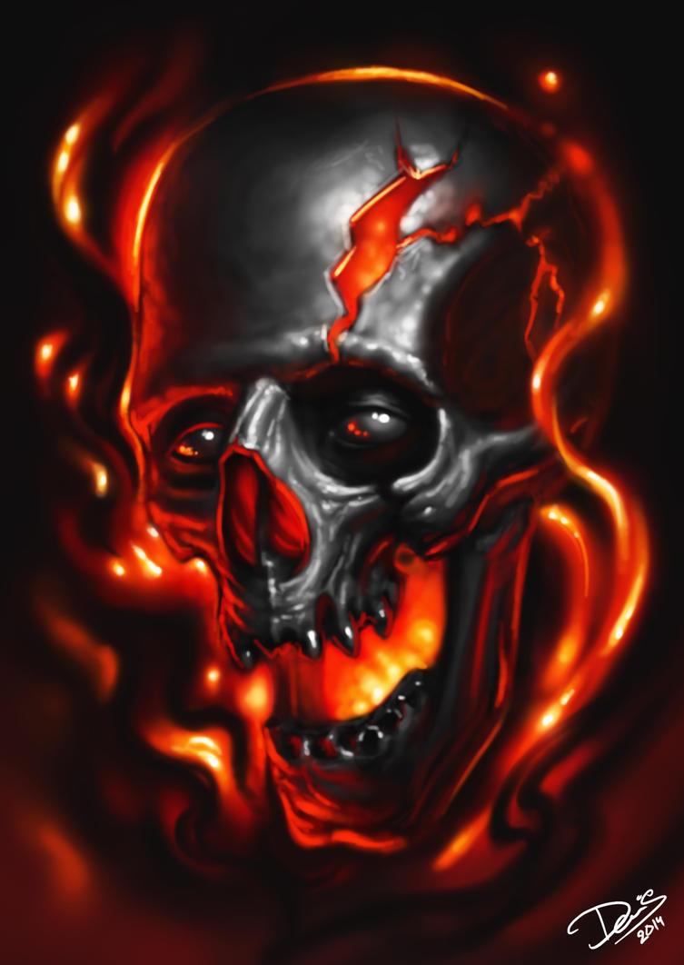 Harley Davidson Flaming Skull Shirt