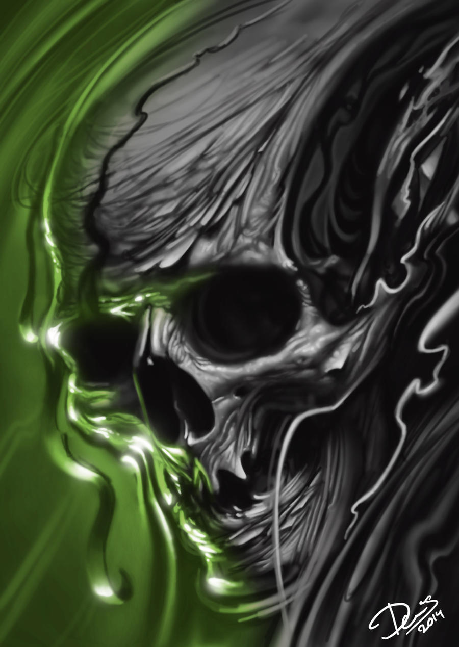 Green Skull by Disse86