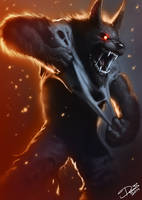 Angry Werewolf by Disse86