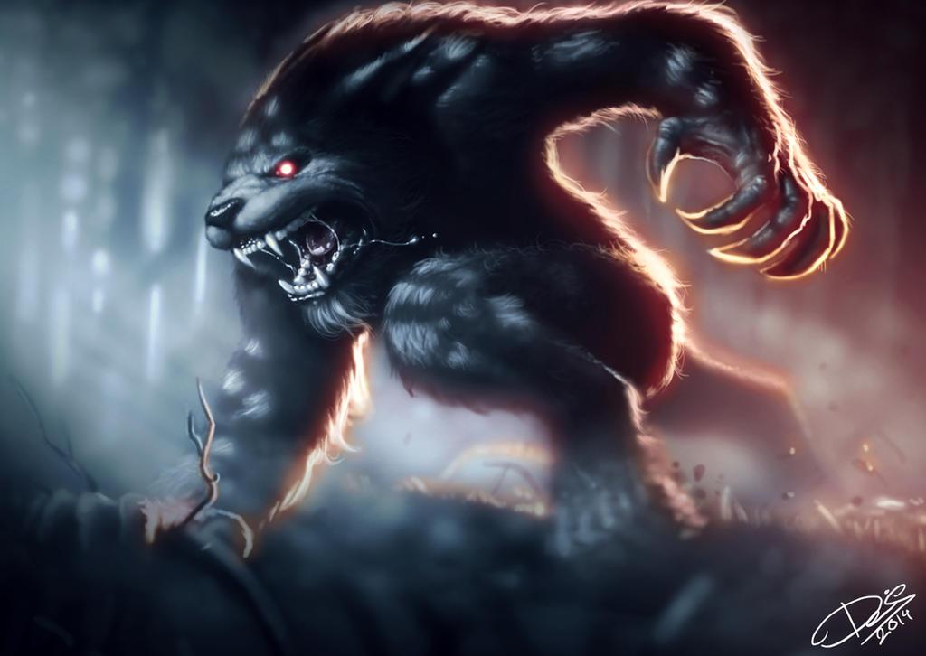 Moonlit Werewolf by Disse86