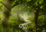 A Cozy Forest - Speedpainting