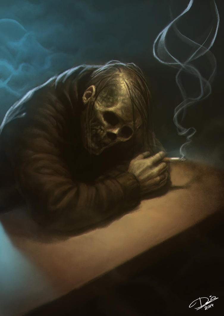 smoking skull by disse86 on deviantart